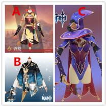 Genshin Impact Xiangling Xingqiu Mona Cosplay Costumes 2