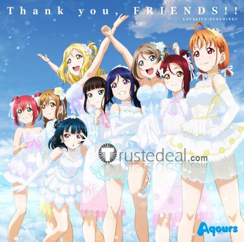 Love Live Sunshine Aqours 4th Thank You Friends Chika Takami Riko Sakurauchi Mari Ohara Cosplay Costumes