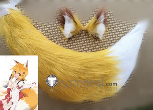 Sewayaki Kitsune no Senko-san Senkosan Fox Tail Ears Cosplay Props
