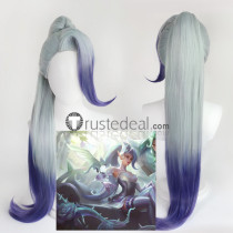 League of Legends LOL NEW Skin Crystal Rose Zyra Ponytail Cosplay Wig