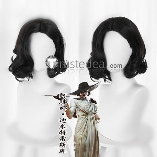 Resident Evil 8 Village Lady Dimitrescu Daughters Daniela Bela Cassandra Black Brown Cosplay Wigs