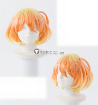 Macross Delta Freyja Wion Gold Orange Cosplay Wig