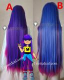 Glitch Techs Miko Kubota Blue Purple Pink Black Cosplay Wigs