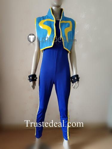 Street Fighter 5 Chun Li Alpha Blue Cosplay Costume