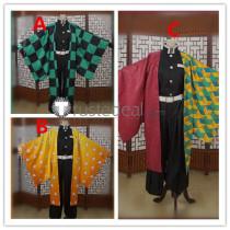 Kimetsu no Yaiba Demon Slayer Tanjiro Kamado Zenitsu Agatsuma Giyu Tomioka Kimono Cosplay Costumes