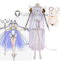 Sailor Moon Sailor Cosmos Guardian Tsukino Usagi White Cosplay Costume