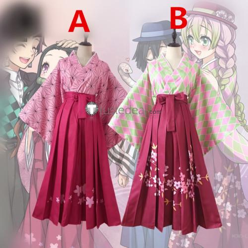 Kimetsu no Yaiba Demon Slayer Nezuko Kamado Mitsuri Kanroji Fanart Kimono Cosplay Costumes