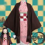 Kimetsu no Yaiba Demon Slayer Nezuko Kamado Kimono Cosplay Costume