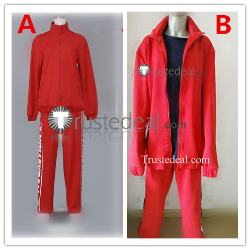 Haikyuu Nekoma High Volleyball Club Tetsuro Kuroo and Kenma Kozume Red Uniform Jersey Cosplay Costume