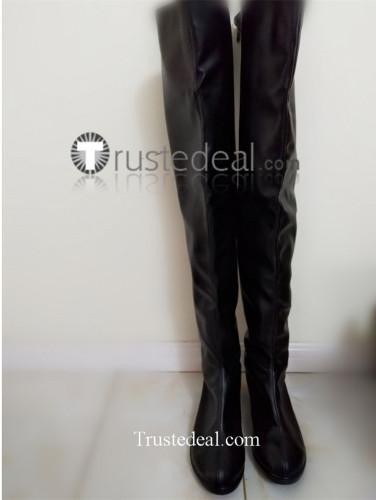 Noragami Bishamon Bishamonten Vaisravana Black Cosplay Shoes Boots