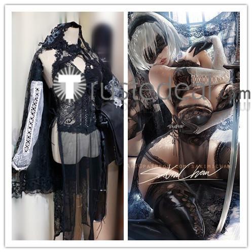 Nier Automata 2B Fanart Cheognsam Cosplay Costume
