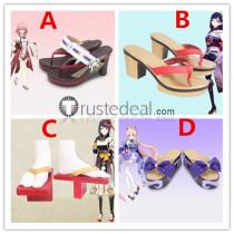 Genshin Impact Baal Raiden Shogun Yae Miko Kujou Sara Sangonomiya Kokomi Cosplay Shoes Boots