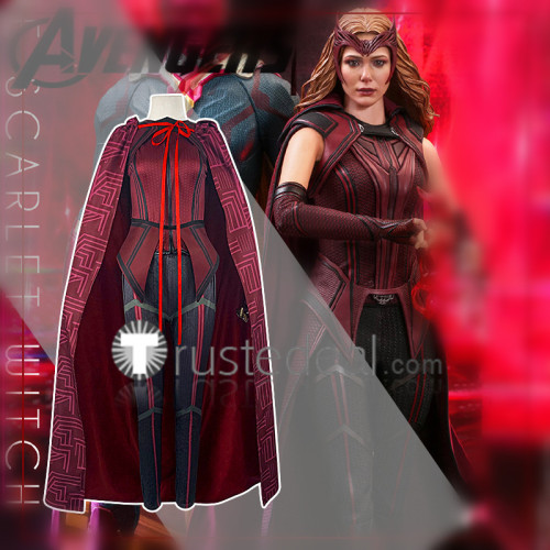 Wanda Vision Scarlet Witch Cosplay Costume Halloween
