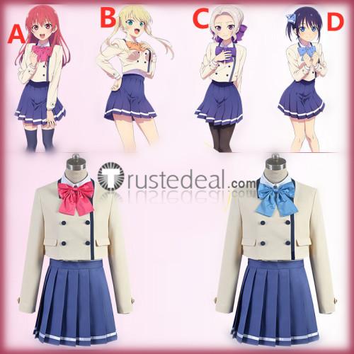 Kanojo mo Kanojo Girlfriend Girlfriend Saki Saki Minase Nagisa Kiryuu Shino Hoshizaki Rika School Uniform Cosplay Costumes