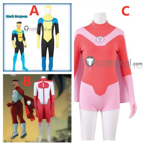 Invincible Mark Grayson Omni Man Atom Eve Halloween Cosplay Costumes