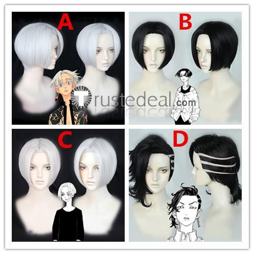 Tokyo Revengers Hajime Kokonoi Manjiro Sano Izana Kurokawa White Black Cosplay Wigs