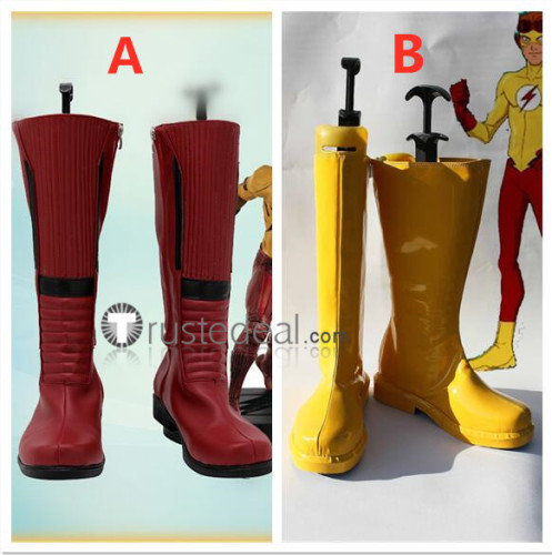Young Justice Kid Flash Wally West Cosplay Shoes Boots