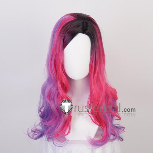 Descendants 3 Audrey Disney Purple Pink Cosplay Wigs