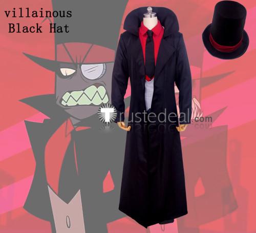 Villainous Black Hat Black Cosplay Costume