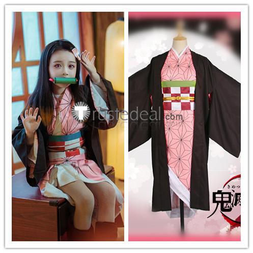 Kimetsu no Yaiba Demon Slayer Tanjiro Nezuko Kamado Zenitsu Agatsuma Shinobu Kanao Kids Children Cosplay Costumes