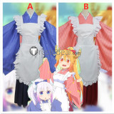 Miss Kobayashis Dragon Maid Kanna Kamui Tohru Maid Kimono Cosplay Costumes