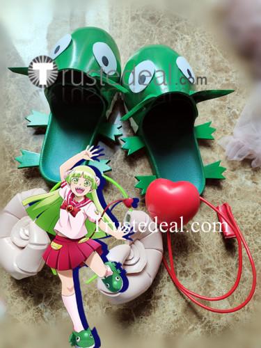Mairimashita Iruma kun Clara Valac Green Cosplay Shoes