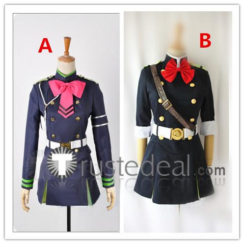 Seraph of the End Owari no Serafu Shinoa Hiragi Mitsuba Sangu Uniform Cosplay Costumes