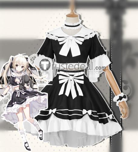 Copy Yosuga no Sora Sora Kasugano White and Black Lolita Cosplay Costume
