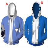 Undertale Sans Blue Hoodie Skull Cosplay Costumes