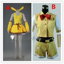 Pokemon Gijinka Pikachu Yellow Cosplay Costumes