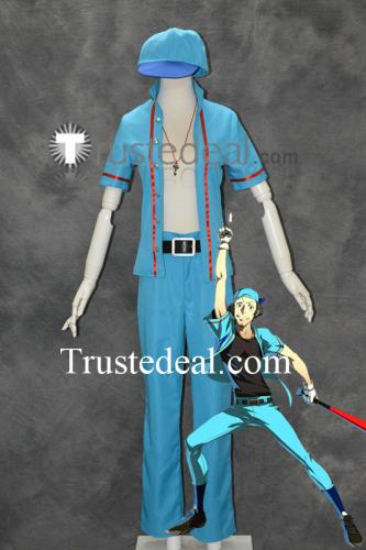 Persona 4 Ultimax Junpei Iori Blue Cosplay Costume