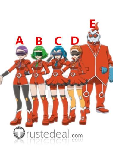 Pokemon XY Team Flare Scientists Bryony Aliana Celosia Mable Xeros Red Orange Cosplay Shoes Boots