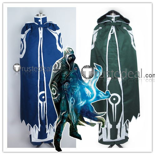 Magic The Gathering Jace Beleren Planeswalker Wizard Green Blue Cosplay Costumes