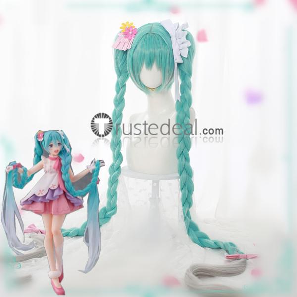 Vocaloid Hatsune Miku Rapunzel Version Wonderland Figure Cosplay Wig