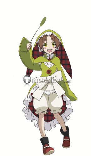 Rokka no Yuusha Chamo Rosso Green Cosplay Costume
