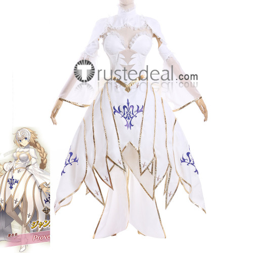 Fate Grand Order FGO Ruler Jeanne d'Arc Prove Sprite White Cosplay Costume