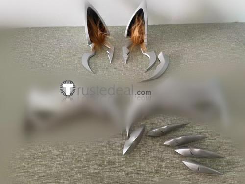League of Legends LOL Ahri Coven Ears Fingernails Props