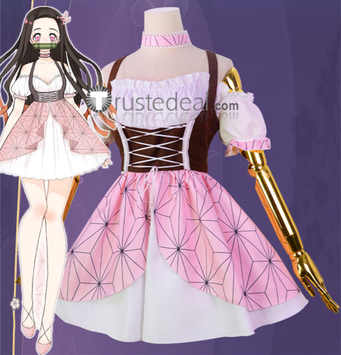Kimetsu no Yaiba Demon Slayer Nezuko Kamado Fanart Lolita Cosplay Costume