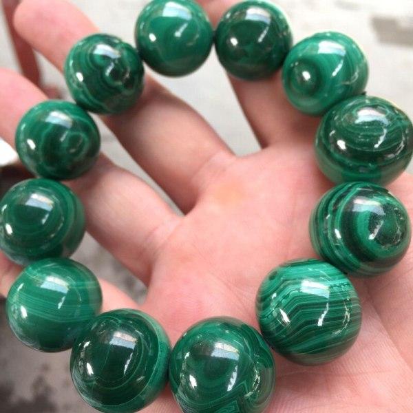 malachite Round beads Bracelets Hand String Bracelet Bangles Gift for Men's Fashion Stone Jewelry