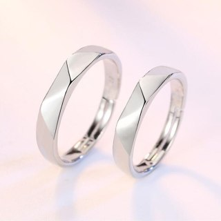 sterling silver new jewelry fashion woman opening ring anniversary wedding anniversary wedding engagement couple ring
