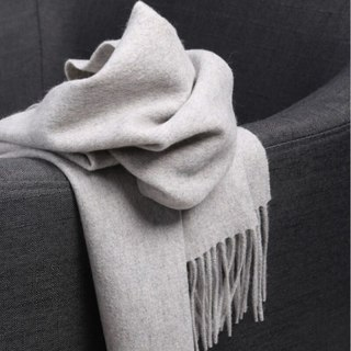 Cashmere Scarf Men Wool Scarf Women Thick Warm Neck Solid Color Shawls  Wrap Femme Pashmina Scarf
