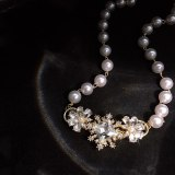 Elegant, luxurious and fashionable necklace for girls and girls, party jewelry