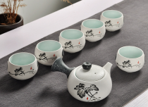Snowflake glazed tea set kung fu tea set ceramic gift set