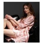 Handmade Silk Pajamas for Women Night dress  2 Pcs Kimono Robe & Silk Nightgown Sleepwear pajama Sets 100%  Silk Pyjamas femme