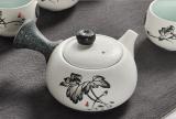 Snowflake glazed tea set kung fu tea set ceramic gift set