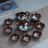 Chinese Kung Fu Tea Set Ceramic Glaze Teapot Teacup Gaiwan Porcelain Teaset Kettles Teaware Sets Drinkware Chinese Tea Ceremony