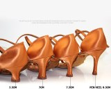 Factory wholesale custom made BD Latin Dance Shoes 2360-B An awl heel Imported satin Women dance shoes 10pair/lot Free shipping