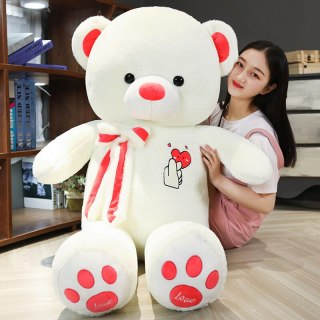 Cute Love Big Huggable Teddy Bear Dolls Creative Soft Cushion Plush Toy Stuffed Animal Room Decor Birthday Gift Accompany Baby