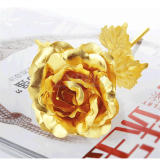 24K Gold Plated Rose Valentine's Day Gift Birthday Romantic Golden Flower New Anniversary Rose Home Decor Festive Party Supplies