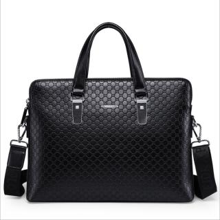 New Fashion Men's Business Briefcase Casual Shoulder Bag Double Layers Laptop Bag Large Capacity Male Handbag Travel Bag